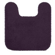 "Better Homes and Gardens Extra Soft Bath Rug Size 20"" x 21.5"" Contour Color Eggplant"