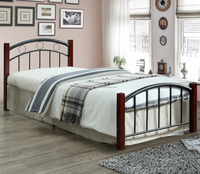 599 METAL WOODEN SINGLE BED