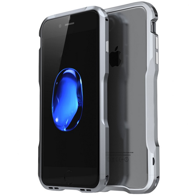 Aluminum bumper ultra thin cell phone case for Iphone 7/8 case mobile phone shockproof