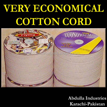 CHEAP COTTON CORD, Cheap Piping Cord, Very Economical Cotton piping cord koord, Cotton Filler Cord