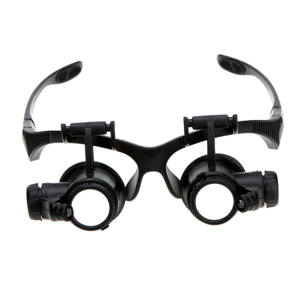 7d406b389b96 Get Quotations · UltimaFio(TM) Binocular Loupe Fine Magnifier Magnifying  Glasses with Light for Jewelry Appraisal Watch