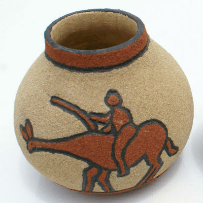 African Natural Dry Fruit Vaseswith Ceramic Decordifferent Ethnic