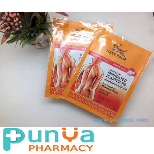 Product From Thailand!! Medicated Plaster-RD Warm 2Plasters 10cm x 14cm For Relief of Muscular Pains Tiger Balm