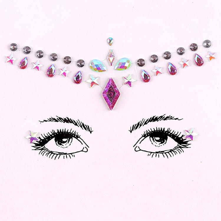 Wholesale Factory Price Festival Face Jewels Face Gems Sticker