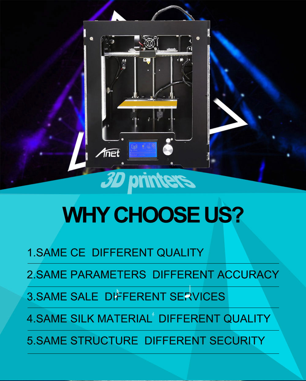 Stock in USA Anet A3S Filament 3d Printer Full Metal Assembled 3D Printer
