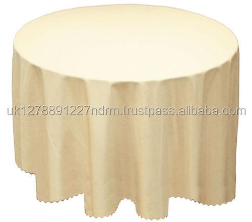 Cream PLAIN SOLID TABLECLOTH CLEAN ROUND CIRCULAR TABLE CLOTH 173CM ROUND  68u0026quot;   UK Stock