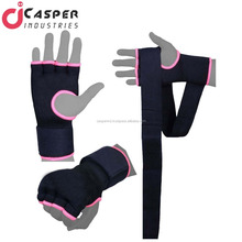 CUSTOMIZED HAND WRAPS INNER GEL GLOVES WITH BOXING GLOVES & TRAINING PUNCHING BAG FIGHTING GLOVES