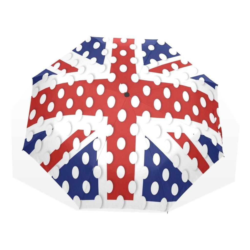EnnE Compact Umbrella American Flag Umbrella Foldable Travel Umbrella Rain Windproof Umbrellas UV Protection 8 Ribs