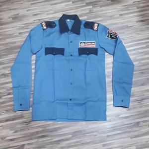 blue colour black pant cotton polyester blend indian guard uniform