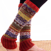 Handmade woolen leg warmer for girls