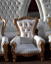 Baroque Salon Boutique Wedding Event Baby Child Throne Chair