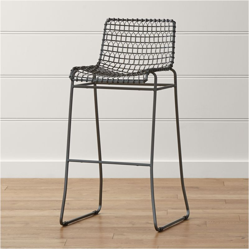 Bar Stools Metal Rattan Stool
