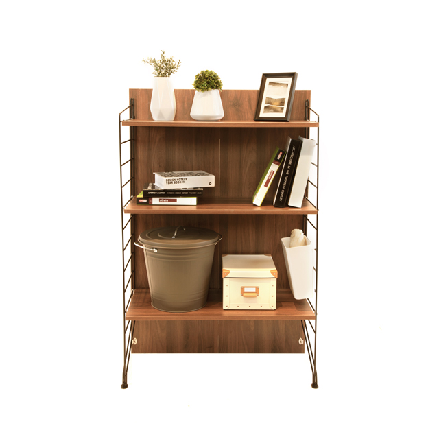 Ezbo Living Room Furniture Tall Cabinet With Adjule Shelving Wooden 4 Feet Modular Cabinets And Shelves Wood Display