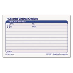 (3 Pack Value Bundle) TOP46373 Avoid Verbal Orders Manifold Book, 6 1/4 x 4 1/4, Two-Part Carbonless, 50/Book