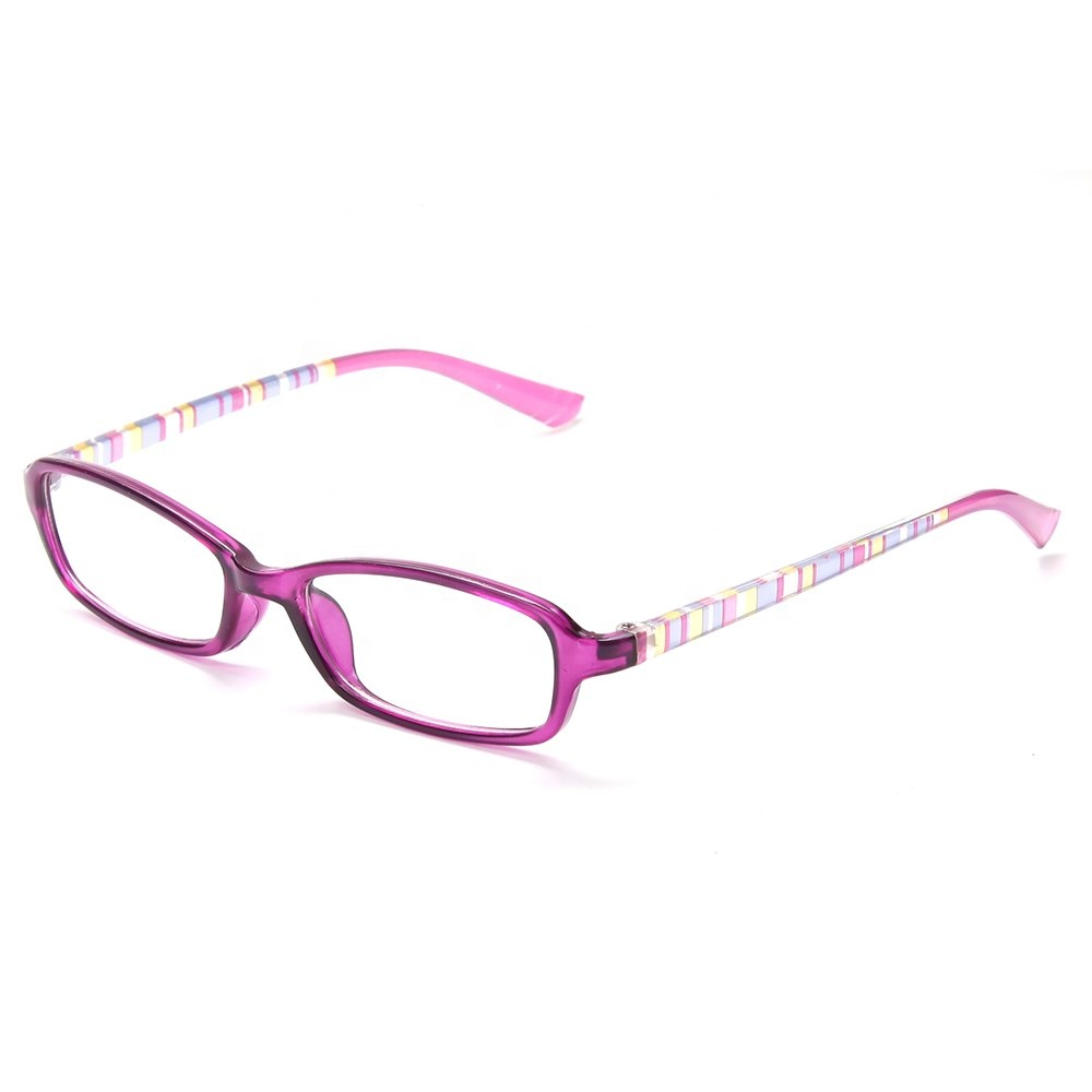 No MOQ Ready Stock Cheap Stylish Men Women Purple Frame Stripe Printed Reading Glasses
