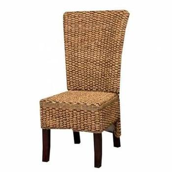 Superieur Vegetable Fibre Water Hyacinth Rattan Wicker Indoor Dining Chair Furniture