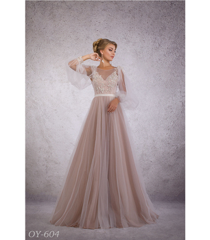 bb19ebe3068ec 2018 Wonderful Wedding Promo Dress Removable Sleeves Comfortable Top Nude  Color Soft Net Skirt Sexy Back - Buy Designer Wedding Dress,Sexy Open Back  ...