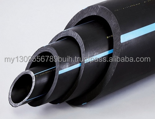 HIGH DENSITY POLYETHYLENE PIPE (HDPE) /(PE 100) compiled with various standard (ISO, MS, BS, & JIS)