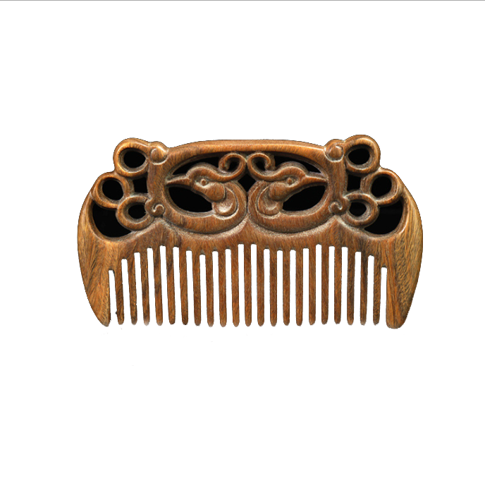 High-grade craft gift whole ebony wood wide tooth comb with eco friendly