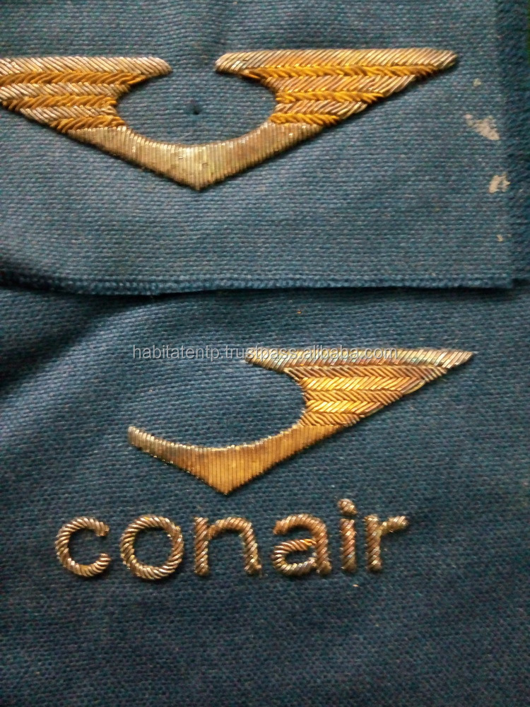 Factory Con Air Hand Work Embroidery Cloth Custom Made Badges - Buy  Wholesale Order All Handmade Embroidery Badges,Custom Hand Embroidered  Bullion