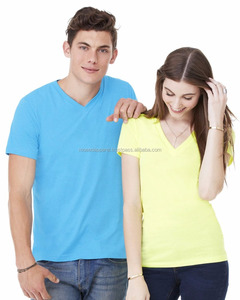 100% Cotton V-Neck Collar T-Shirt