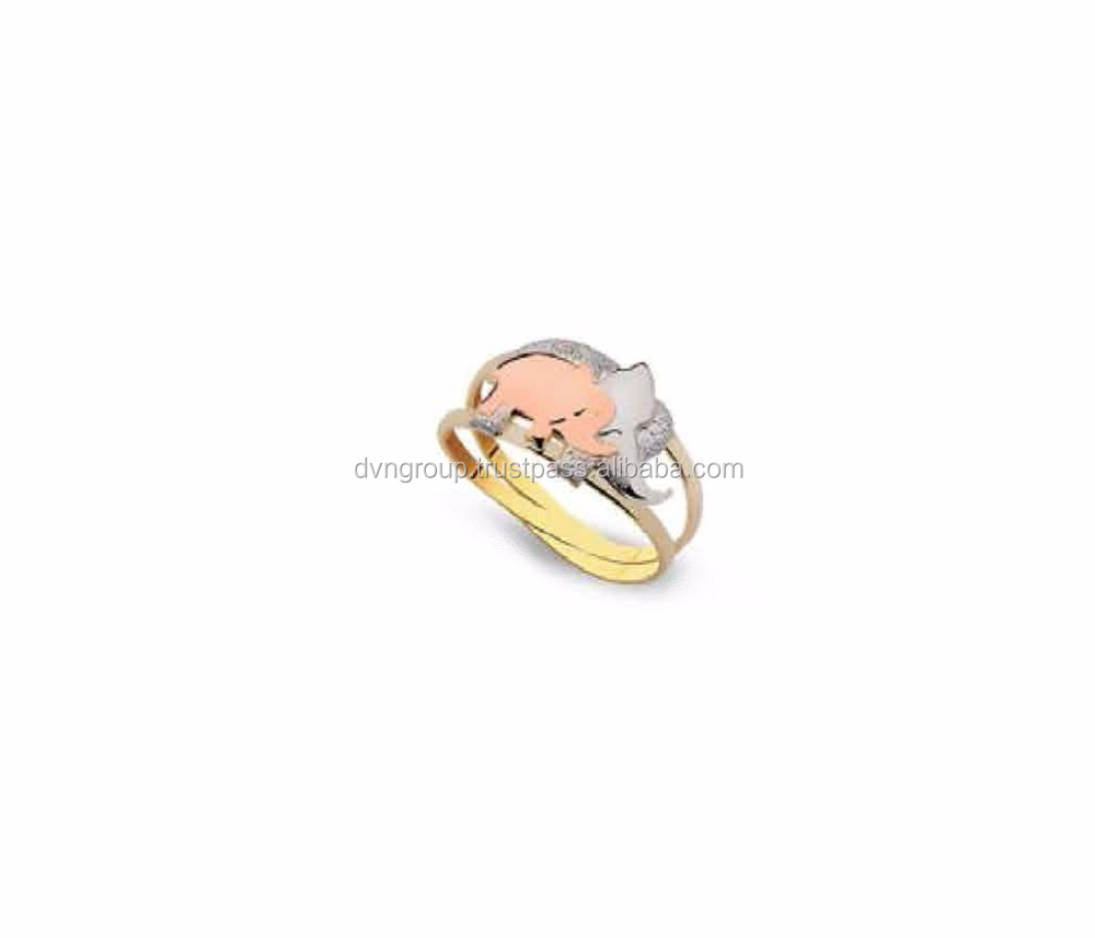 ring gold engagement yellow elephant rings