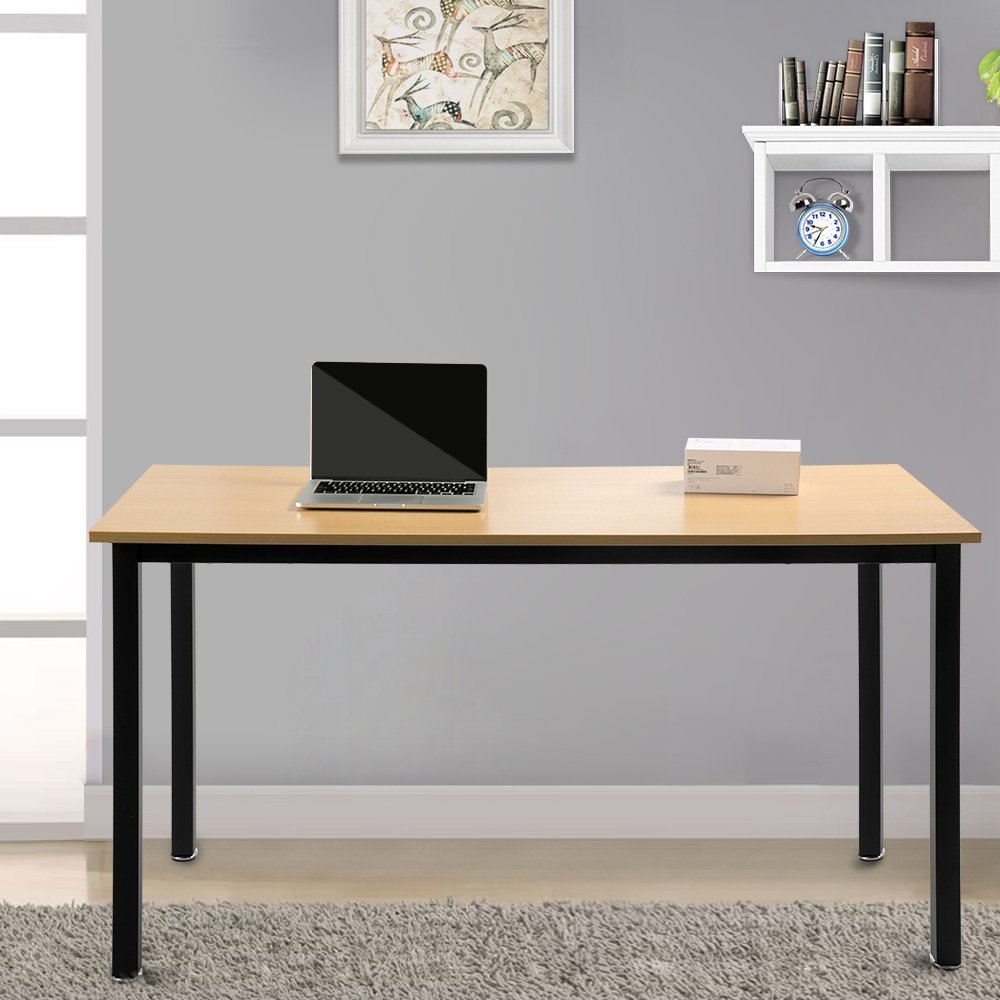 Modern Luxe by Merax Computer Desk PC Laptop Wood Writing Desk Home Office Furniture Workstation (55 inch)