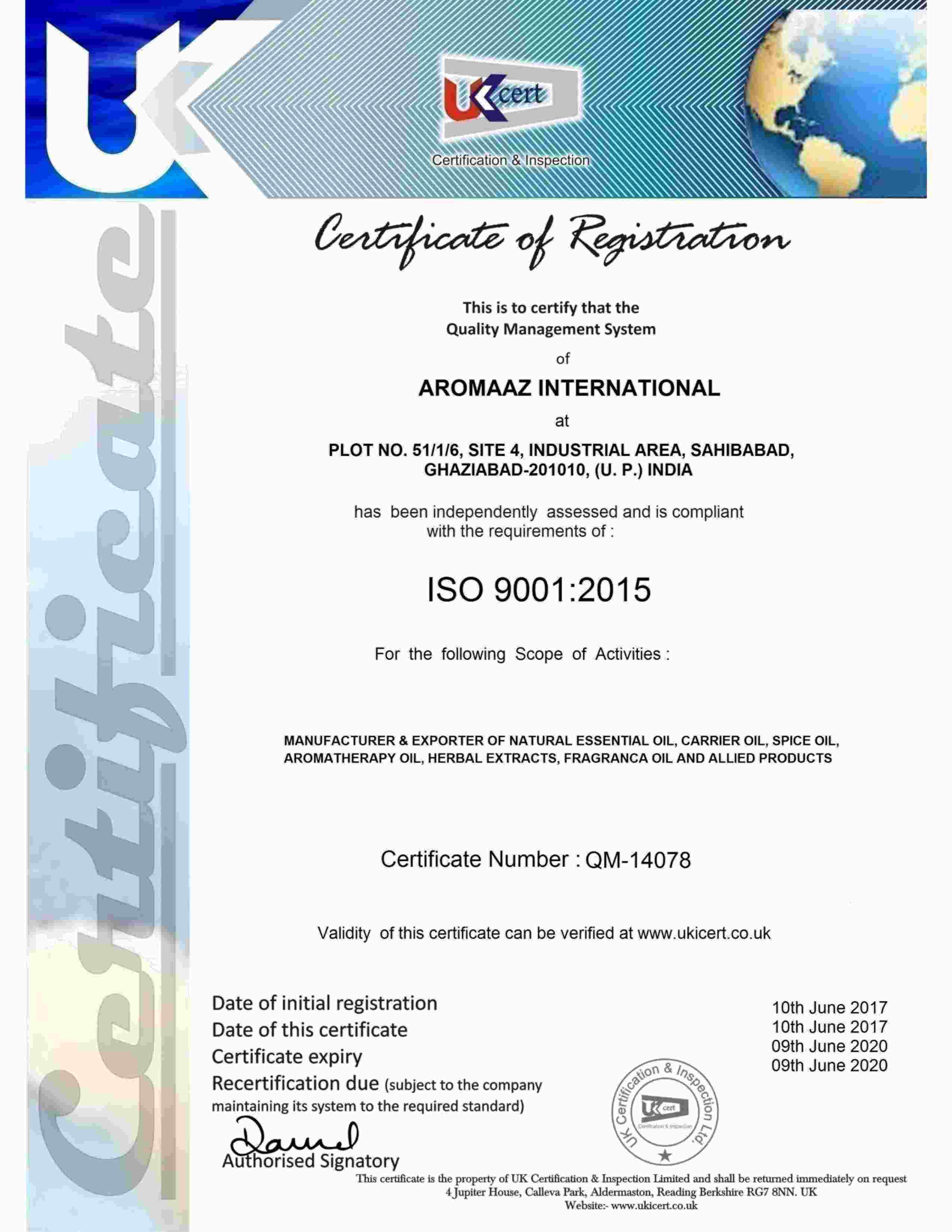 Company overview aromaaz international iso9001 1betcityfo Gallery