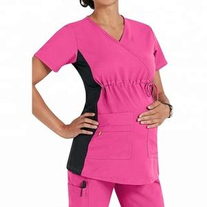 Healthcare Ladies Medical Scrub Top Uniform