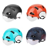M L Size Breathable 8 Holes EPS City Urban Road MTB Bike Bicycle Safety Integrally-molded Helmet Removable Goggles Helmet GUB V3