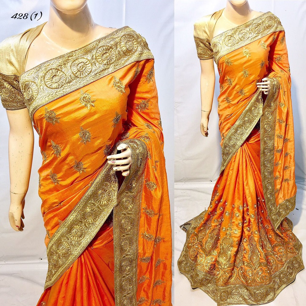 7ab60e309a731a India pakistani designer party wear saree with embroidery work blouse