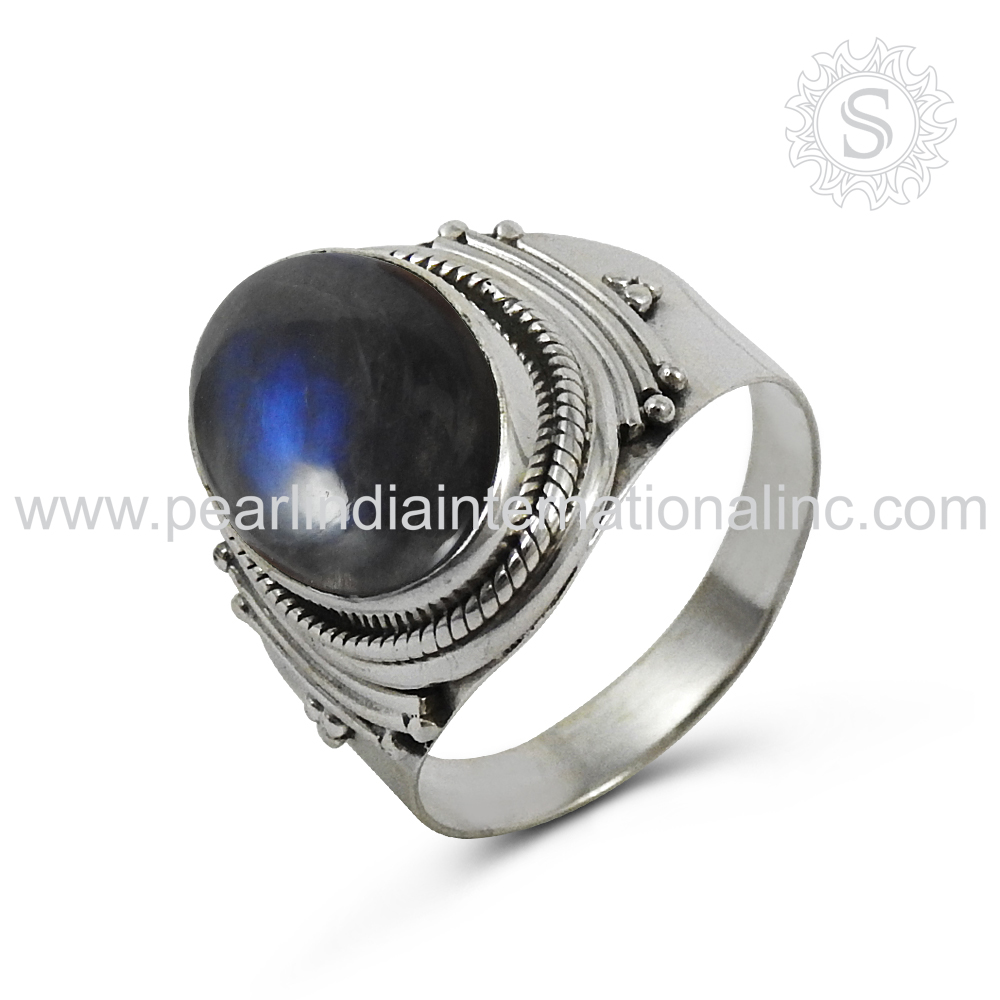 Vintage style labradorite gemstone silver rings 925 silver jewelry exporters handmade silver jewelry