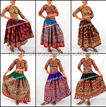 7985dea5f4 Gypsy Hand Embroidered Antique Skirt- Vintage Kutchi Mirror work Long Skirt-  Gypsy Hand Embroidered