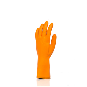 Factory direct supply thick orange excellent grip safety work protective gloves