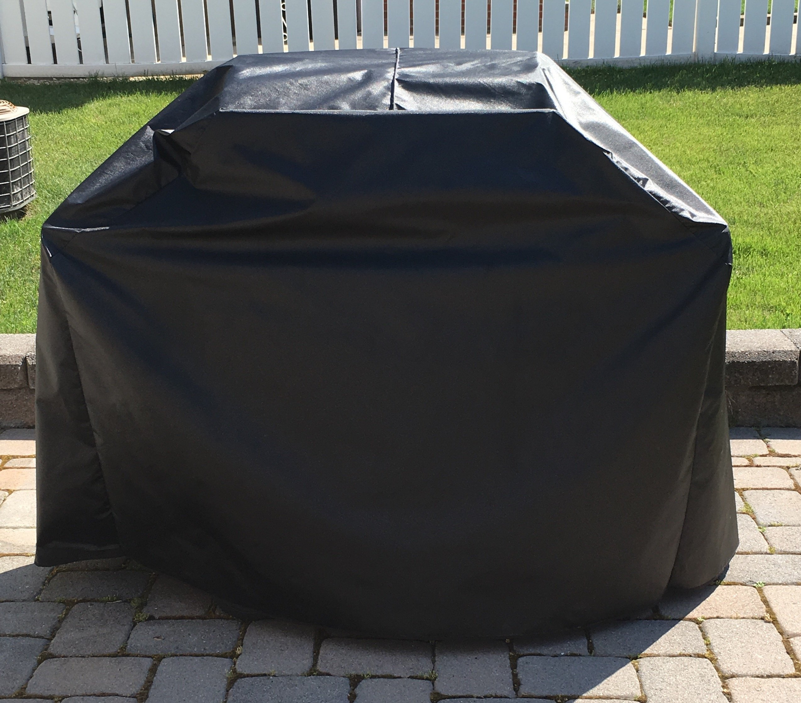 Comp Bind Technology Grill Cover for Weber Genesis II E-210 Gas Grill Custom Fitting Outdoor Black Waterproof Cover - 47''W x 29''D x 45''H