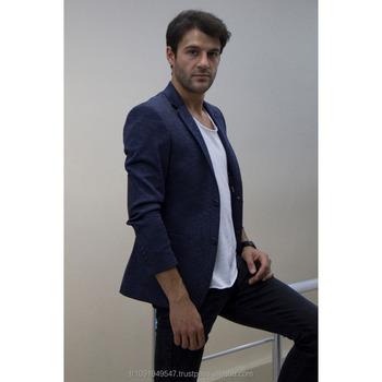 pre-comanda ieftin de vânzare cel mai bine vândut The Newest Stylish Model Casual Men Blazer Jacket Dark Blue ...