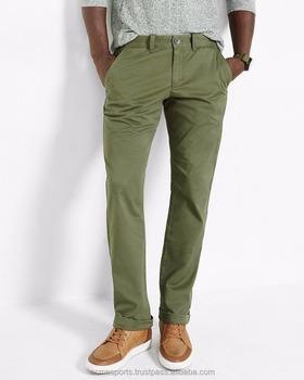 Army Green Color Chino Pants 2014 New Cotton Khaki Pant Man