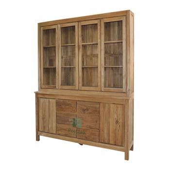Kitchen Cabinet Glass Doors Indoor Furniture Solid Teak Wood Buy