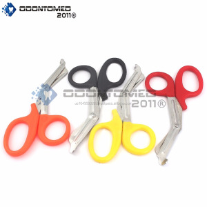 NEW PREMIUM GRADE SET OF 4 PCS (RED, ORANGE, BLACK, YELLOW) PARAMEDIC UTILITY BANDAGE TRAUMA EMT EMS SHEARS SCISSORS 5.5 INCH ST