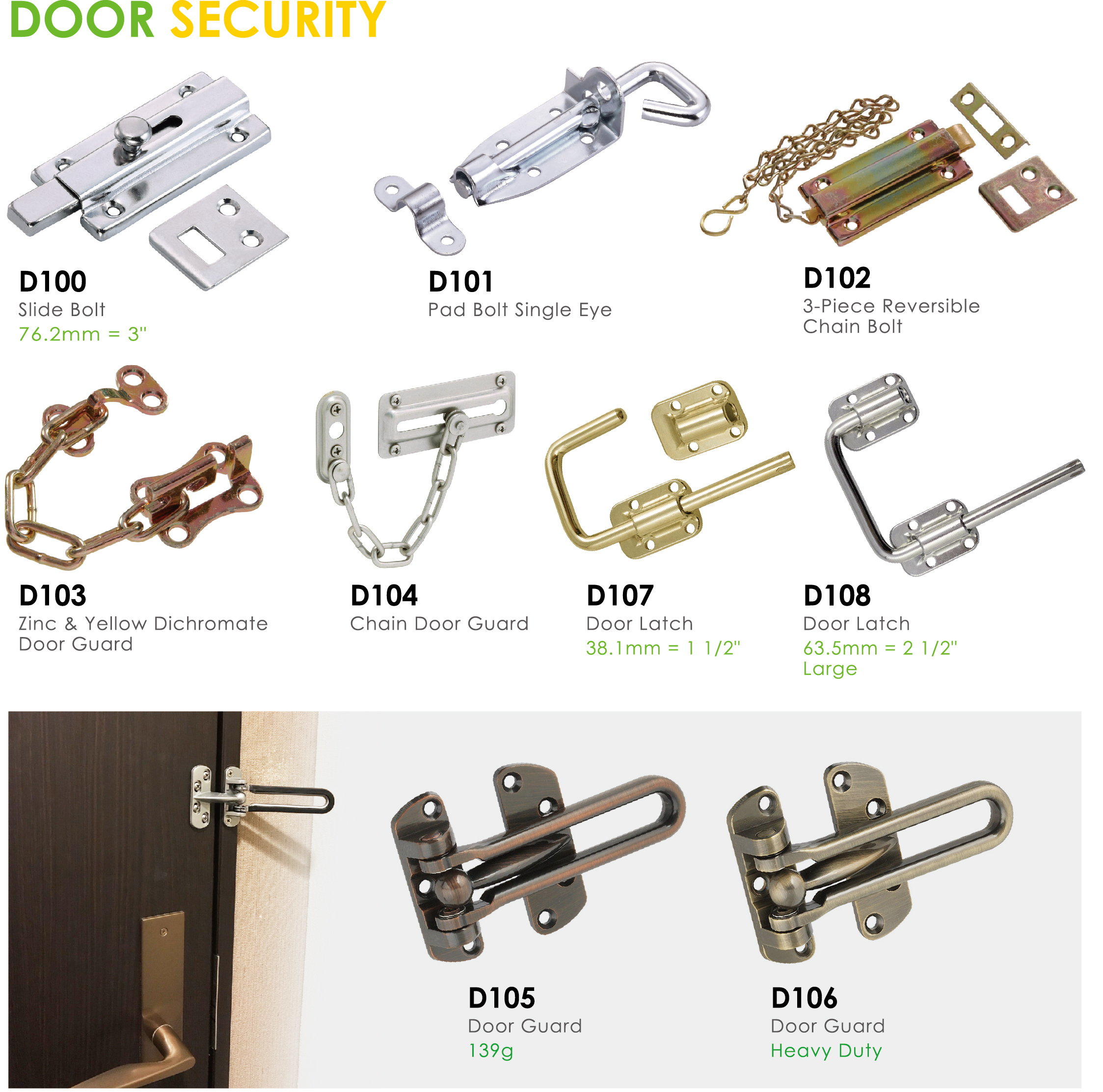 Oil Rubbed Bronze Finished Security Door Chain
