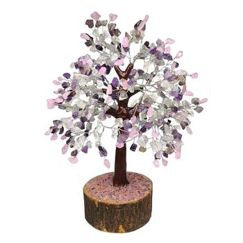 amethyst Rose Quartz Crystal Quartz Gemstone Tree  Mix Quartz Tree For Healing decoration chakra tree for sale