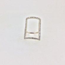 Unique design CZ Zircon ring for women in 925 Sterling silver