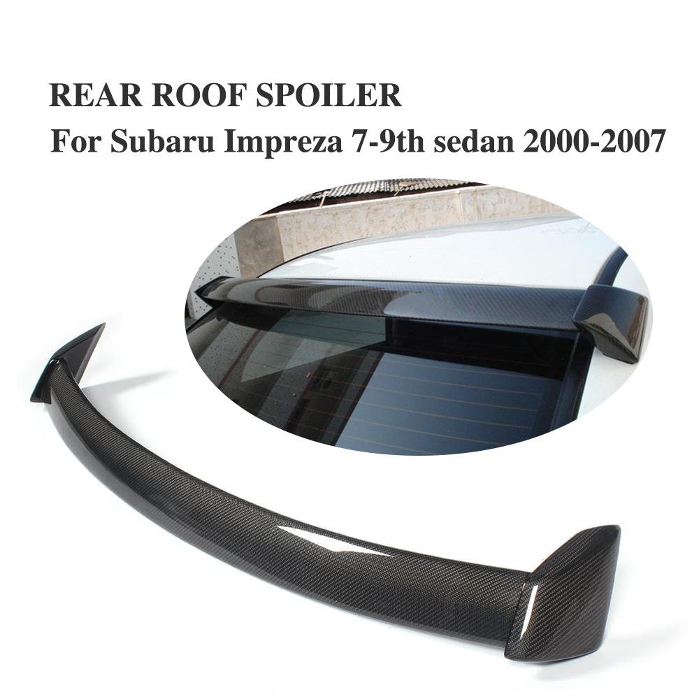 JCSPORTLINE Carbon Fiber Rear Roof Spoiler for Subaru Impreza WRX STI 2002-2009