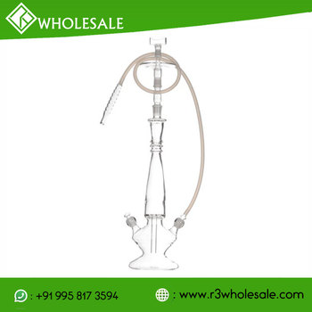 26 inch Tall Single Or Double Hose Hand Blown Boroscilicate Glass Hookah