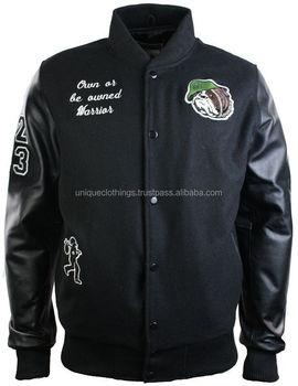 Leather jacket with custom digitizing design Order here
