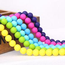 12 미리메터 Eco-삶 BPA Free Food 급 Multi-Color Round Silicone Rubber 젖니 Beads