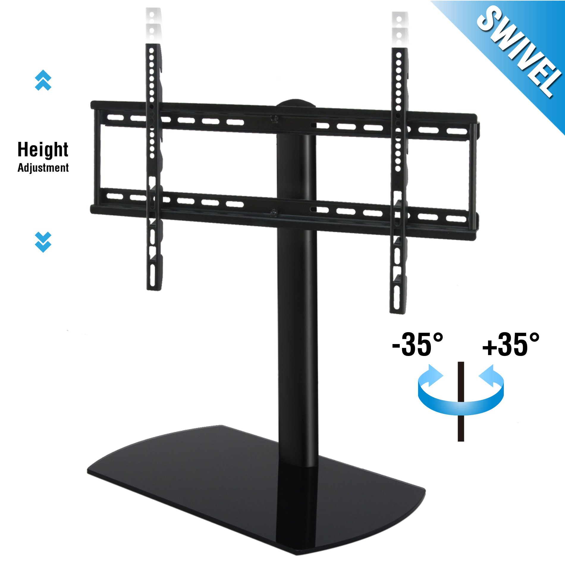 Buy Fitueyes Universal Table Top Tv Stand For 32 To 65 Inch Tvs With