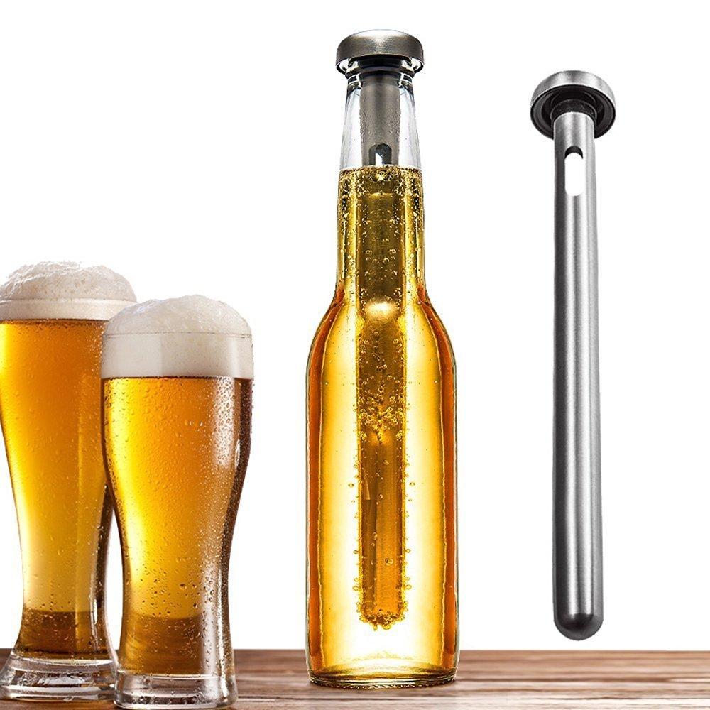 Beer Chiller Keeps Beer Cold Longer Chill Brew Beer Chillers Stainless Steel Bottle Wine Beverage Cooler Cooling Sticks