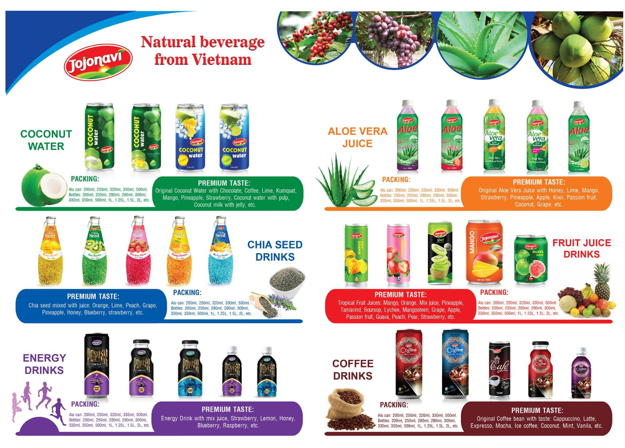 Aloe vera drink private label Export aloe vera products JOJONAVI brand