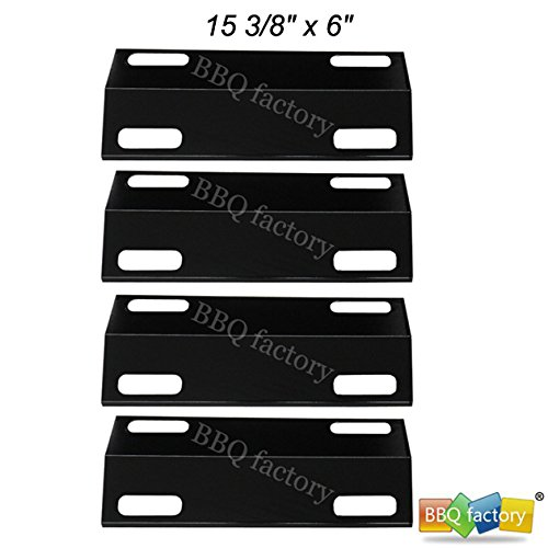 bbq factory Replacement Porcelain Steel BBQ Gas Grill Heat Plate / Heat Shield Part JPX351(4-pack)/Ducane:30501013 (4-pack) Select Gas Grill Models By Ducane Gas Grill and Other